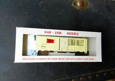"KAR-LINE #237 LEHIGH VALLEY RAILWAY ""RED FLAG"" WHITE 40' SNG DOOR BOXCAR #62544"