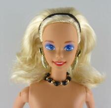 Nude Barbie Nicole Miller Savvy Shopper Blonde Superstar Face Necklace Earrings