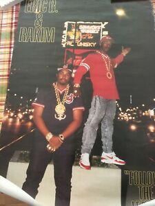 Vintage 1988 Eric B & Rakim poster - Follow the Leader - RARE! 1980s rap hip-hop