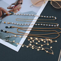 Eyeglass Chain Sunglasses Holder Necklace Pearl Stars Reading Glasses Lanyard