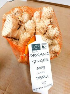 Fresh Organic Certified Ginger Roots - 500gm|1kg|2kg | Country of Origin Peru