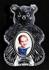 """Waterford Crystal Teddy Bear Picture Frame, 7 1/4"""" Tall"""