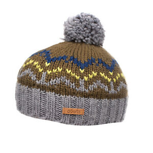 BARTS Beanie Cap Size 53 / S / 4-8Y Knitted Pom Pom Partly Melange Effect