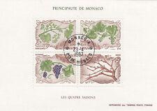 282496 / Flora gestempelt Block Monaco