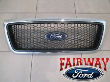 06 thru 08 F-150 OEM Ford XLT Chrome Surround Honeycomb Grille Grill w/ Emblem
