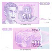 Yugoslavia 500 Dinara 1992 P-113 Banknotes UNC