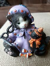 """Calico Kittens """"Our Friendship is A Magical Spell"""" Halloween Numbered figurine"""