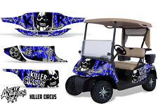EZ GO Golf Cart Wrap Graphics Vinyl Sticker Decal Kit EZGO 1996-2010 CIRCUS BLUE