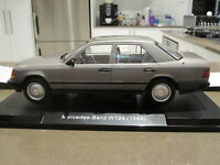 1:18 MODEL CAR GROUP 1984 MERCEDES W124 300D ANTHRACITE *NEW*