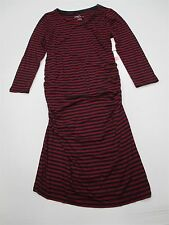 new LIZ LANGE MATERNITY #DR726 Women's Size XS Striped Fitted Red Bodycon Dress