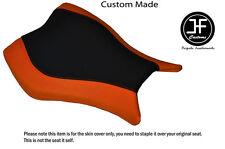 Vinilo Negro Naranja Personalizado Para Honda CBR 1000 RR 13-15 Fireblade Cubierta de asiento delantero