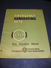 Fairbanks-Morse Electric Generator Sets 1965 Catalog Asbestos History