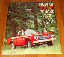 Original 1961 Dodge 4 Wheel Drive Truck Sales Brochure W100 W200 Power Wagon
