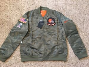 Cleveland Browns Salute to Service Womens Jacket Digi Camo Nike Water Repellent