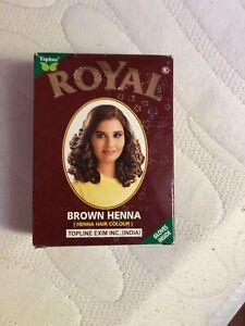 Royal Henna Indian Mehndi Powder Hair Dye 60g 6x10g satchets brown options avail