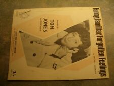 "Vintage sheet music, ""Funny, Familiar, Forgotten feelings"", Tom Jones."