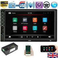 """7"""" Car Stereo Bluetooth Radio MP5 Player Double DIN Touch Screen Phone-Link UK"""