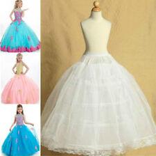 2-Hoops Kids Pettiskirt For Wedding Flower Girl Dress Petticoat Underskirt Slips