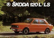 Prospetto Škoda 120 L LS 1979 auto prospetto opuscolo 1 fogli AUTO SKODA brochure