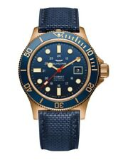 Glycine Men's GL0174 Combat Sub 42 Bronze Automatic 42mm Blue Dial Watch
