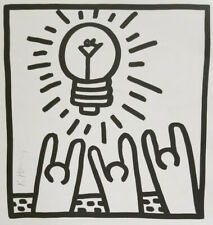 KEITH HARING HAND SIGNED PRINT WITH NO RESERVE !!