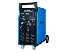 Sherman mig230/2 Trasformatore gasless SEMIAUTO SALDATORE 200amp 230v AC 50hz