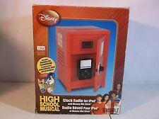 DISNEY HIGH SCHOOL MUSICAL AM/FM ALARM CLOCK RADIO w IPOD MP3 DOCK LCD DISPLAY