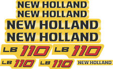 New Holland LB110 Backhoe Decal / Adhesive / Sticker Complete Set