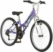 24 Inch Girl Mountain Bike Purple and White Womens Bicycle