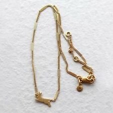 Madewell Bunny Charm Necklace - Gold Plated Brass - NWOT