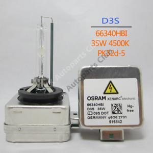 OSRAM D3S 35W4500K 66340 66340HBI XENARC Original Spare Part HID OEM Bulb Xenon