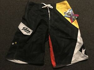 New Boys Youth Billabong Andy Irons Orange Red Gray Black Board Shorts Trunks 28