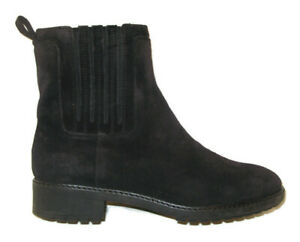 Via Spiga Womens Black Suede Leather Ankle Boots Booties Wmn USA 7.5 EUR 38