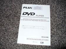 Bedienungsanleitung PLU2 DVD Player DS-6338B  DVD Spieler DS 6338 B  DS6338 B