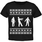 Zombie Ugly Christmas Sweater Black Toddler T-Shirt Top