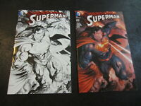 SUPERMAN #50 HASTINGS EXCLUSIVE B&W VARIANT SET TYLER KIRKHAM DC Comics LOT OF 2