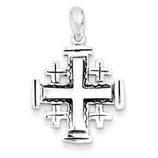 Sterling Silver Antiqued Jerusalem Crusader Pendant