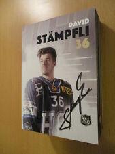 67538 David Stämpfli HCC  Eishockey original signierte Autogrammkarte