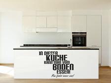 Wandtattoo Küche In dieser Küche kann man vom Boden Essen Nr 1 Wand Tattoos