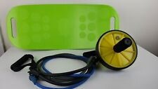 Ab Roller Simply Fit Board Exercise Wheel Resistance Bands Lot Home Gym Fitness