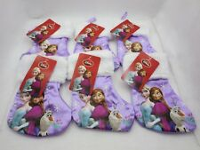 LOT OF 6 DISNEY 6 3/4 INCH CHRISTMAS STOCKINGS FROZEN CAST THEME NEW IN PACKAGE