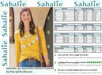 Sahalie Saturday Market Women/'s Short Sleeve Tee size Large Machine Washable