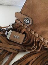 Coach 1941 Turnlock Wristlet 30 in Suede w/ Fringe Tan NWT 86840  Retail $395