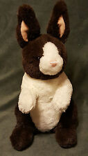 "Gund Borders Brown & White Bunny Rabbit 46719 13"" Plush Stuffed Animal Toy"