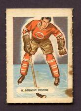 1946 KELLOGG'S ALL- WHEAT HOCKEY CARD SPORT - TIPS # 16 DEFENSIVE POSITION