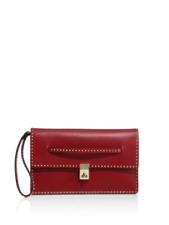 NEW Auth $1895 VALENTINO Micro Rockstud Clutch in Dark Red Holiday'17 ~SOLD OUT~