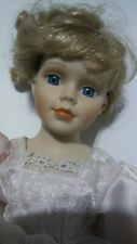 Antique Reproduction porcelain Doll beautiful blue eyes