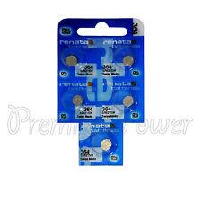 5 x Renata 364 Silver oxide batteries 1.55V SR621W SR60 Watch SR65 0% Mercury