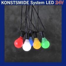 LED Party-lichterkette 10er bunt Konstsmide 24v System 4641-507