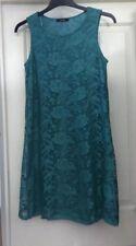 Vestido de Encaje Suave George verde sobre, Talla 12-preciosa!